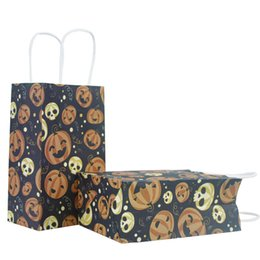 Kids Craft Patterns UK - Candy bags for Halloween Decorations in 9 Patterns Paper Gift Wrap Handbags for kids Trick or Treat