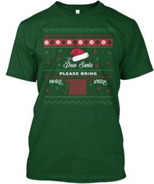 discount ugly sweater men ugly christmas sweater for crochet lover dear santa hanes tagless tee