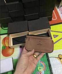 Livraison gratuite! Spécial 4 couleurs Key Pouch Zip Portefeuille Portefeuilles en cuir de pièce de monnaie femmes designer porte-monnaie 62650