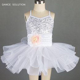 $enCountryForm.capitalKeyWord Australia - White and Sky Blue Ballet Dance Tutu for Girls Sequin Dress Jazz Dance Costumes 15308