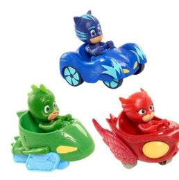 China Cartoon PJ Figure Mask With Car Set Characters Catboy Owlette Gekko Action Figures Model Toys Birthday Gift KKA5010 supplier car actions suppliers