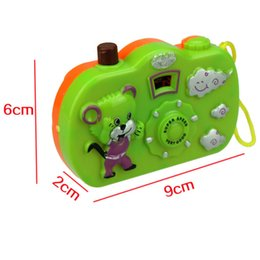 Toy Cameras Australia - 1pc Educational Projection Camera Toy Muilti Animal Pattern Light Projection Study Children Toys Random Color