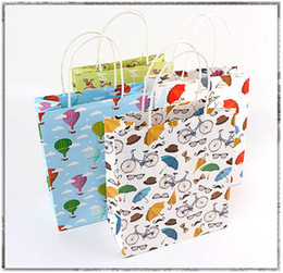 $enCountryForm.capitalKeyWord Australia - mini order 3 dozens free shipping by DHL estival series colorful kraft paper bag NO.2 for cake candy clothes food gift decoration packing