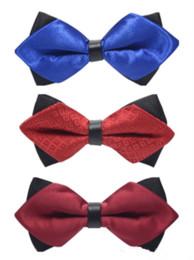 venda por atacado 2018 Elegante Smoking Clássico Borboleta Colorida Festa de Casamento Jacquard Tecido Noivo Gravatas Laços Homens Festa de Casamento Bow Tie Top Venda