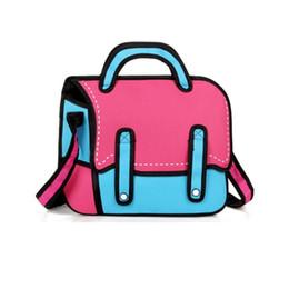 PaPer shoulders online shopping - Flyone New D Drawing Cartoon Paper Bag Comic Paper Backpack Women Shoulder Bag cute Unisex Knapsack Fashion comic Novelty Student Bags
