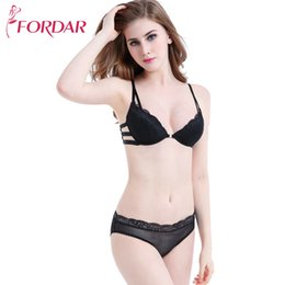b54433f2e3 wholesale Sexy Lace Wireless Open Bras Set for Women Push Up A B C Cup  Embroidery Underwear Set Bra and Panty Set Lolita Lingerie
