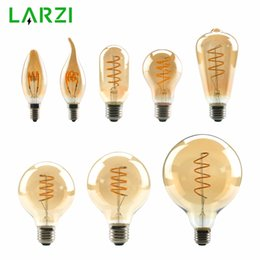 vintage light g95 2019 - LARZI T45 ST64 G80 G95 G125 Spiral Light LED Filament Bulb 4W 2200K Retro Vintage Lamps Decorative Lighting Dimmable Edi