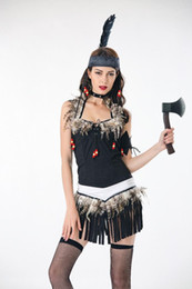 8dc5f5f7ca sexy indian costume 2019 - Sexy Fringed Native Indians Princess of Savage  Forests Hunter Fancy Dress