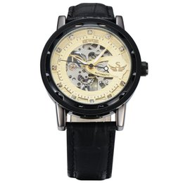 $enCountryForm.capitalKeyWord Australia - SEWOR Luxury Skeleton Mechanical Watch Golden Transparent Steampunk Clock Brand Men Leather Band Watch Relogio SWQ13-614
