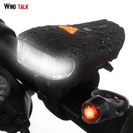 $enCountryForm.capitalKeyWord NZ - Wind Talk Smart Sensor Usb Rechargeable Waterproof Bike Light Set Mini Led Cateye Bicycle Tail Lights Back Safety Flashlight Y1892809