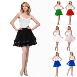 crinoline line short 2019 - In Stock Short Wedding Bridal Petticoat Tulle Crinoline 2018 Hot Sale Underskirt For Girl Cheap Wedding Accessories Rock