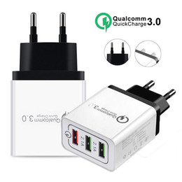 3 Ports Quick Charge 3.0 USB-Ladegerät Power Adapter für iPhone iPad Samsung Xiaomi LG HTC Handys QC3.0 Travel Fast Charger EU / US-Stecker