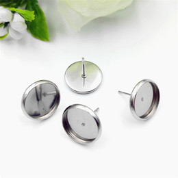 Discount pin stoppers - 100PCS Wholesale Stainless Steel Jewelry Accessories For Earring DIY Jewelry Part Stoppers Accessories DIY Metal Nickel