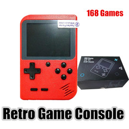 games for birthdays NZ - Handheld 8 Bit RetroGame Console RS-6 Store 168 Games Colorful LCD Support TV Out Video FC Games For Kids Children Birthday Gifts