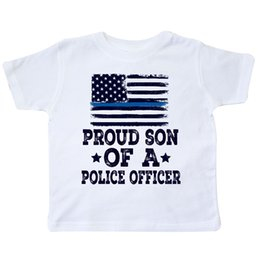 $enCountryForm.capitalKeyWord Canada - Inktastic Police Officer Proud Son Toddler T-Shirt Policeman Boys Law Flag Blue Funny free shipping Unisex Casual tee gift