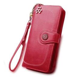$enCountryForm.capitalKeyWord Canada - New Hot Sale Women Clutch Wallet Split Leather Wallets Female Long Wallet Women Zipper Purse Strap Coin Purse For iPhone 7