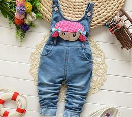$enCountryForm.capitalKeyWord Australia - New Fashion Autumn Kids Jumpsuit Baby Girls Cartoon Denim Bib Pants Children Trousers For Toddler Girls Baby Overalls