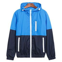 Wholesale nice spring jackets for sale – winter Jacket Men Windbreaker Nice Spring New Fashion Jacket Men Hooded Casual Jackets Male Coat Thin Coat Outwear JK111