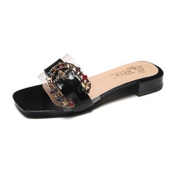 0b31be23b09b8 SandalS diamondS online shopping - summer women s sandals and slippers colored  diamond metal buckle decorative