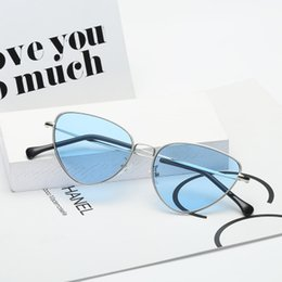 Glasses Trade Australia - 2019 new foreign trade cat eye ocean glass sunglasses, lady, retro European and American sunglasses.