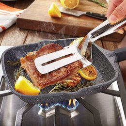 Wholesale Multifunctional High Grade Stainless Steel Barbecue Clip BBQ Tongs Fried Shovel Bread Meat Vegetable Clamp Cooking Tools Food Clip