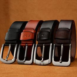 $enCountryForm.capitalKeyWord Australia - fashion Men's Leather Casual   Dress Belt Classic Double-Stitched Edge Removable Buckle