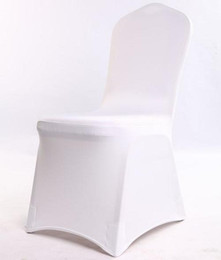 Wedding Chairs For Sale Wholesale Australia - 100 pcs Universal White Polyester Spandex Wedding Chair Covers for Weddings Banquet Folding Hotel Decoration Decor Hot Sale Wholesale