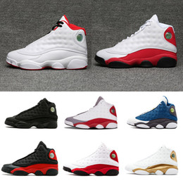 b0f2bec62801 2018 shoes 13 DMP Low Basketball Shoes Pure Money Brave Blue Chutney  Basketball Boot Top Qaulity XIII Black Red Sneakers