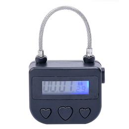 Digital Timer Switch, USB Ricaricabile Time Lock Lock Locklock per BDSM Polsini della caviglia della mano Accessori gag bocca, Giocattoli adulti del sesso per le coppie in Offerta