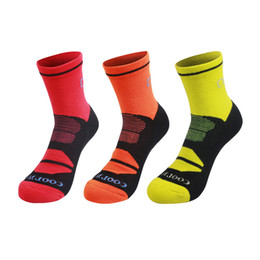Discount soccer series - COOLMAX Series Sport Trail Running Socks Breathable Quick Dry Basketball Cycling Men Women calze ciclismo Unisex Soccer