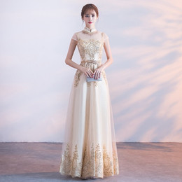 chinese clothes cheongsam Australia - Bride Wedding Qipao Long Cheongsam Chinese Evening Dress Sequins Embroidery Party Dresses Princess Clothes Dressing Gown