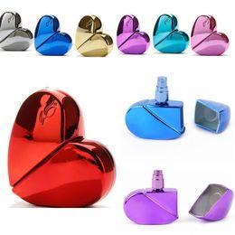 $enCountryForm.capitalKeyWord NZ - 25ml Heart Shape Perfume Storage Bottle Refillable Empty Travel New Fashion Mini Atomizer Spray Pump
