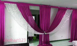 Discount draping for wedding backdrop 3M*6M sequin swag designs wedding stylist swags for backdrop Party Curtain Celebration Stage backdrop drapes