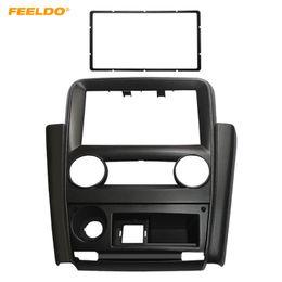 dvd for car installation 2019 - FEELDO Car 2Din Radio Fascia Frame for Mistubishi V3 Lingyue Stereo DVD Audio Panel Dash Installation Trim Kit #1579 che