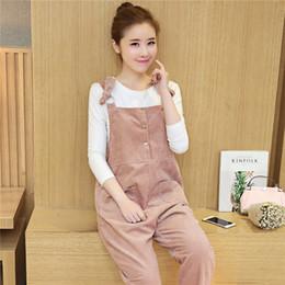9c73ebcc14ae4 2018 autumn pregnancy clothes maternity jumpsuits corduroy overalls for  pregnant women cotton loose fit maternity bib pants