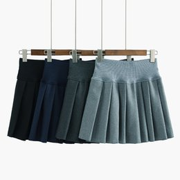 Chinese  Waist Lolita Pleated skirts Harajuku girls A-line Mini Sailor Skirt Large Size Japanese school uniform Skirts manufacturers