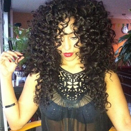 big virgin black lady 2018 - Silk Top Lace Wig Glueless Curly Human Hair Wigs Baby Hair Brazilian Virgin Lace Front Wig Silk Base For Black Women Ble