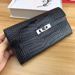 $enCountryForm.capitalKeyWord NZ - 2018 New designs Genuine Leather Women Wallets Lady Purse Long Alligator Wallet Elegant Fashion Female Women Clutch With Card Holder