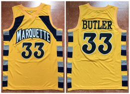 33 Jimmy Butler Marquette Golden Eagles College Yellow Retro Classic  Basketball Jersey Mens Stitched Custom Number and name Jerseys c28e4629b