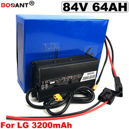 Lg Bikes Australia - 5000W 84V 64AH E-Bike Scooter Lithium Battery pack for Original LG 18650 cell Electric Bicycle battery 84V +5A Charger 70A BMS