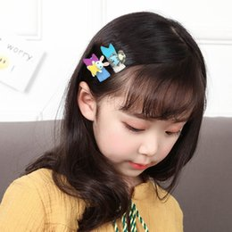Hair Jaw Clips Wholesale Australia - Kids Baby Girls Hair Clip Bow Cartoon Hairclip Hairpin Set Barrettes flower Hair Jaw Clip Children Hairpin Accessories