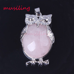 EastEr clothEs for womEn online shopping - Owl Necklace Pendants Natural Stone Fashion Clothing Accessories Jewelry Crystal Pendant Silver Plated Charms Jewelry For Women