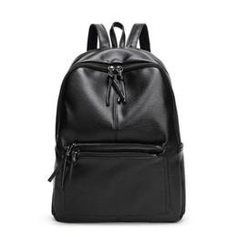 692f7acaf1cb New Travel Backpack Korean Women Rucksack Leisure Student School Bag Soft  PU Leather Bag Backpacks for Teenage Girls Black Casual Bags