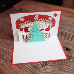 creative 3d pop up christmas card new year series handmade greeting cards postcard christmas message cards gifts