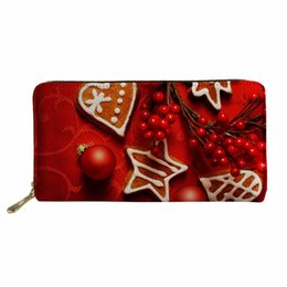 Tree Wallets Australia - NEW Christmas Theme Women Wallet Female Long Wallets Coin Pocket Christmas Tree Printed Large-capacity Card Bag Purse