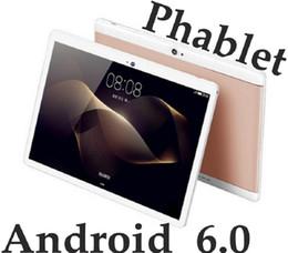 Una pieza 2018 de alta calidad Octa Core 10 pulgadas MTK6582 IPS pantalla táctil capacitiva dual sim 3G tablet teléfono pc android 6.0 4GB 64GB