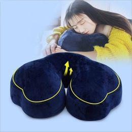 Discount cloud cars - YR comfort Nap Pillow with Slow Rebound Memory Foam core Creative Cloud Shaped Anti-Apnea pillow Chair Car Lumbar Cushio