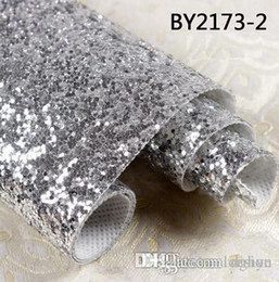Discount glitter walls - Wholesale-30 meter 3D Chunky Glitter wallpaper bling Wallcovering For Home Decor High quality Wall cloth