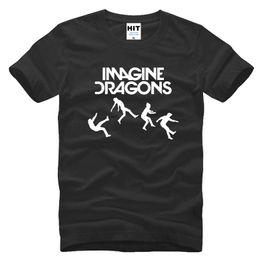 Hot T Shirts For Men Australia - Hot Sale Fashion Imagine Dragons Rock Music Men's T-Shirt T Shirt For Men 2018 New Short Sleeve O Neck Cotton Casual Top Tee