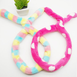 d93144b83b1 Sweet girls Rabbit Ear Soft Elastic Soft Headband Women Towel Hair Band  Bath Spa Make Up Girls Face Washing Hairband Headwear